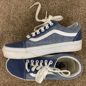 Kids Vans, size 3.5. Blue/Chambray classic style